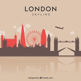 Modernes design von skylinen von london