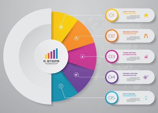 Modernes diagramm-infografik-element