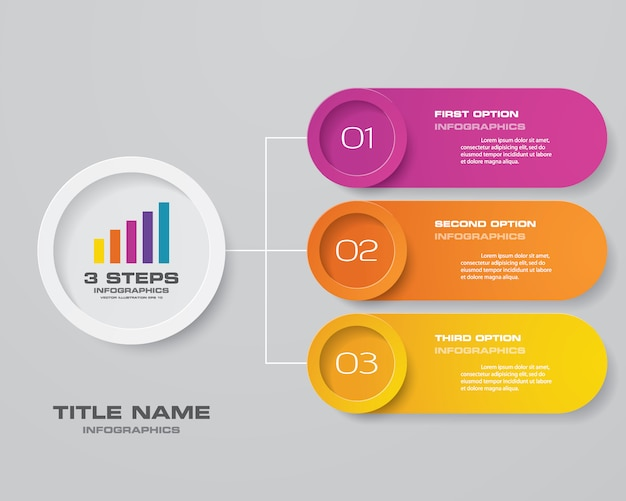 Modernes diagramm infographik element