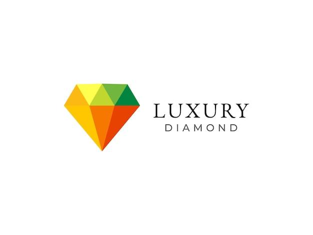 Modernes diamant-luxus-logo-design-konzept