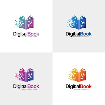 Modernes digitales buchlogo.