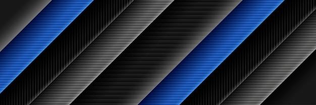 Modernes dunkelgraues futuristisches tech-blaulicht auf schwarzem hintergrund