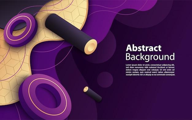 Modernes dynamisches purpur mit hintergrunddesign der abstrakten formkomposition