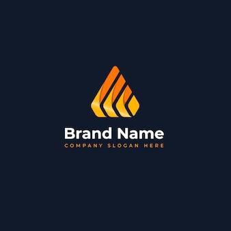 Modernes, einzigartiges logo-konzept, das für das erlernen von innovationen im bereich bauschmuck und informationstechnologie geeignet ist