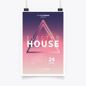 Modernes Electro-Haus-Plakat