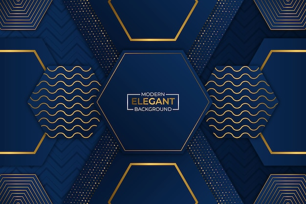 Modernes elegantes hintergrundblau und gold mit glitzer