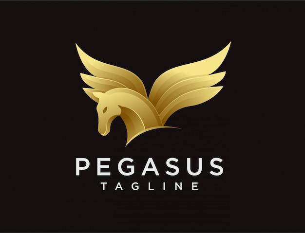 Modernes eleganz-pegasus-logo