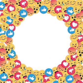 Modernes emoji-design auf weißem hintergrund