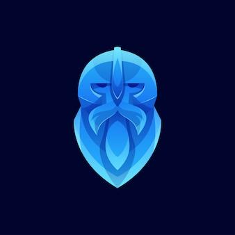 Modernes farb-wikinger-logo