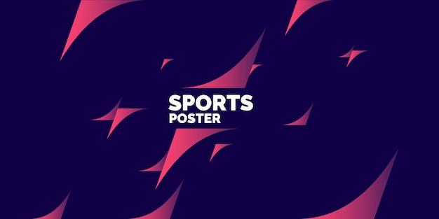 Modernes farbiges poster für sportvektorgrafiken