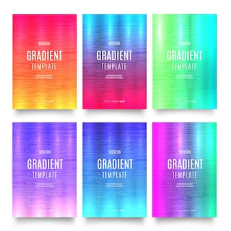 Modernes farbverlaufs-schablonen-deckblatt-pack