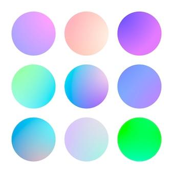 Modernes farbverlaufsset