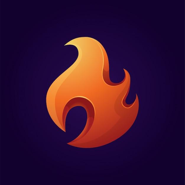 Modernes feuer-logo