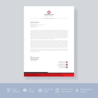 Modernes firmenbriefpapier
