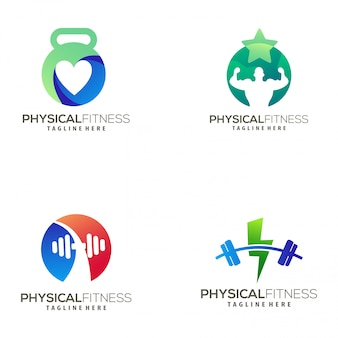 Modernes fitness-logo und icon-design