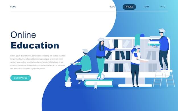 Modernes flaches designkonzept der on-line-ausbildung