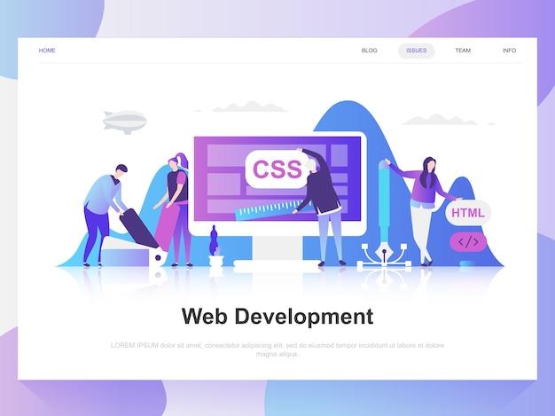 Modernes flaches designkonzept der web-entwicklung.