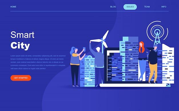 Modernes flaches designkonzept von smart city