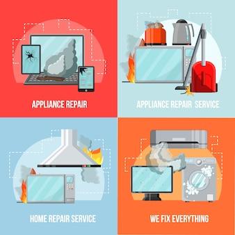 Modernes flaches reparaturservicekonzept