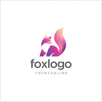 Modernes fox-logo