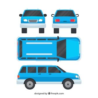 Modernes geländefahrzeug in verschiedenen ansichten