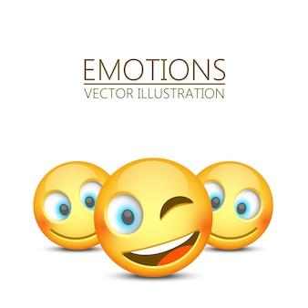 Modernes gelbes lachendes emoji