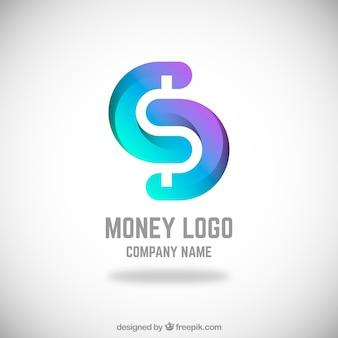Modernes geld logokonzept