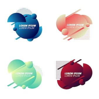 Modernes geometrisches kreis-abzeichen