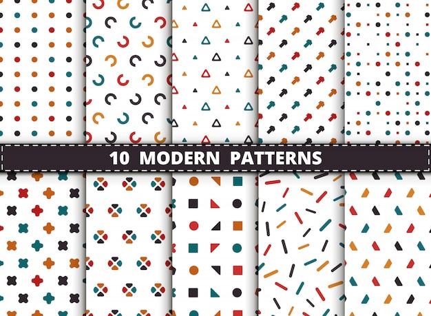 Modernes geometrisches muster der abstrakten bunten art.