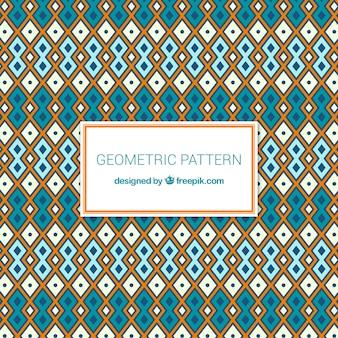 Modernes geometrisches muster mit ethnischem stil