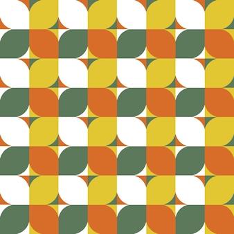 Modernes geometrisches nahtloses muster im stil der mitte des jahrhunderts
