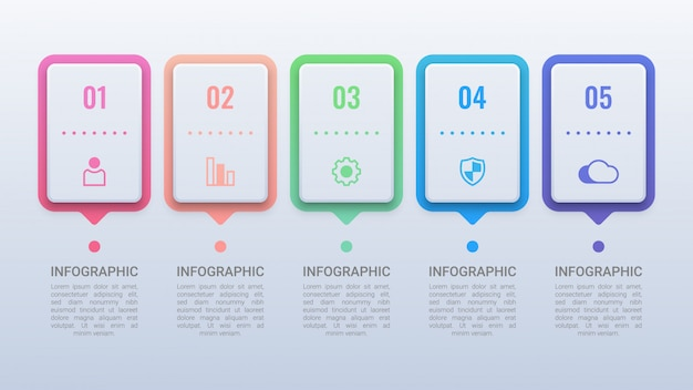 Modernes geschäft infografik mit optionen