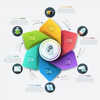 Modernes geschäft infografiken