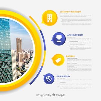 Modernes geschäft infographic mit foto