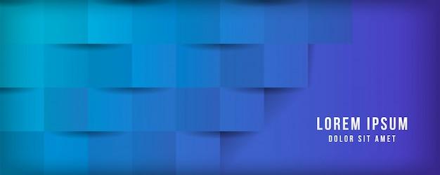 Modernes geschäft mit geometrischem würfelhintergrund