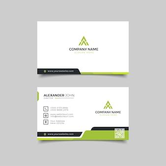 Modernes geschäft weiß schwarz und grün corporate professional