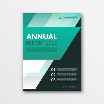 Modernes geschäftsbericht-cover