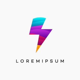 Modernes gewelltes thunder flash-logo entwirft konzeptvektor, tech lightning-logosymbol