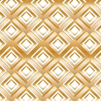 Modernes goldmuster mit rauten. vektor-illustration.