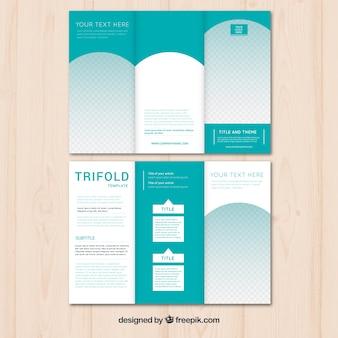 Modernes grünes business-triptychon