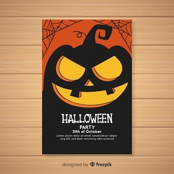 Modernes hand gezeichnetes halloween-partyplakat
