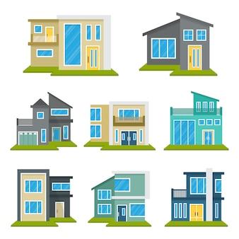 Modernes haus home real estate gesetzt