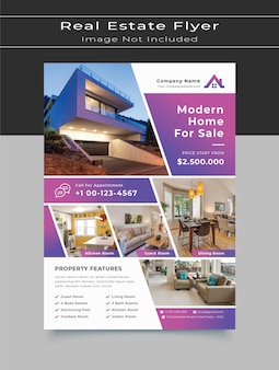 Modernes haus zum verkauf immobilien flyer vorlage