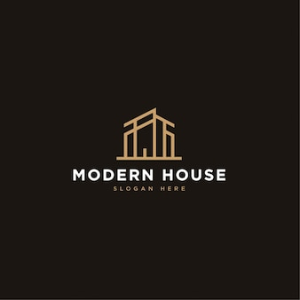 Modernes hausbau-logo-konzept