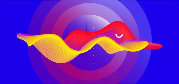Modernes hintergrunddesign mit konzeptionellem element