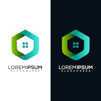 Modernes home-logo-design