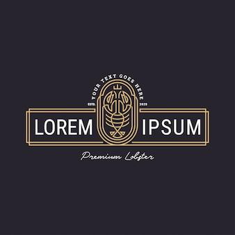 Modernes hummer-logo mit linienart