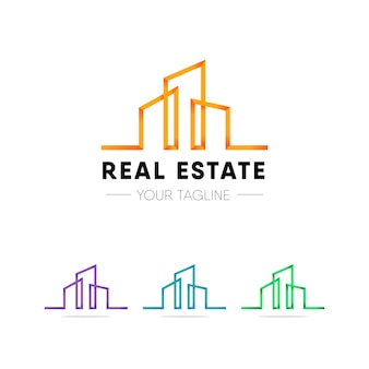 Modernes immobilien-logo