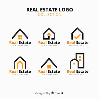 Modernes immobilienlogo collectio