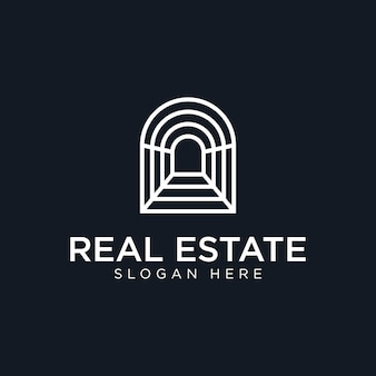 Modernes immobilienlogo design premium